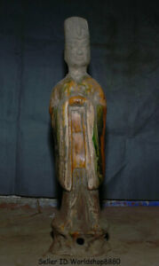 20 Old China Tang San Cai Pottery Dynasty Civil Official Civilian Figure Statue