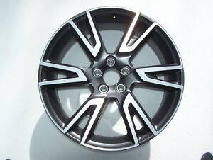 17 19 Volvo V90 Cross Country Machined W Charcoal Wheel Oem Rim 6 Split Spoke