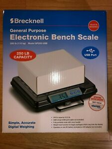 New Retail Brecknell Electronic Utility Bench Digital Scale Gp250 usb 250x0 5lb
