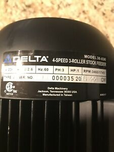 Delta 4 Speed 1hp 3 Roller Stock Feeder Motor