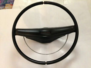 Vintage1969 Mustang Two Spoke Steering Wheel Used Oem Color Black