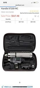 Welch Allyn Diagnostic Otoscope Ophthalmoscope Convertible Handle Portable Set