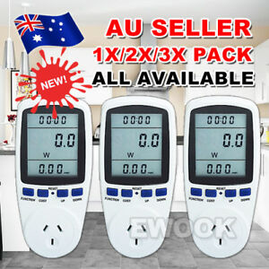 Au Plug Power Energy Consumption Watt Meter Electricity Usage Monitor Equipment