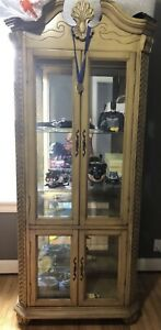 Antique Style Wood Display Case
