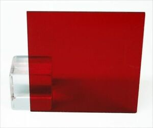 1 8 Transparent Dark Red Acrylic Plexiglass Sheet 12 X 12 Cast Plastic Azm