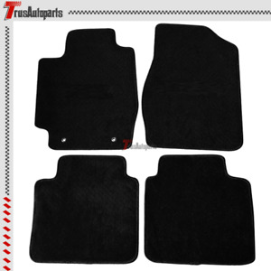 For 02 06 Toyota Camry Black Nylon Floor Mat 4dr Front Rear Carpets Badge 4pc