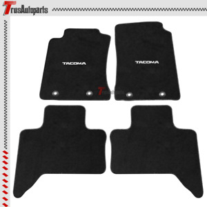 For 11 14 Toyota Tacoma Xtra Cab Black Nylon Floor Mats Non Slip Carpet