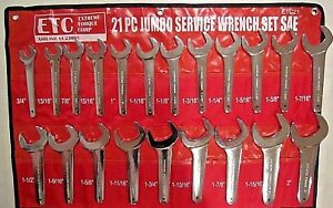 Sae 21 Pc Etc Jumbo Hydraulic Line Service Open End Wrench Set Aviation Aircraft