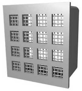 Price Mslg 18 X 18 Security Return Air Grille White Powder Coat