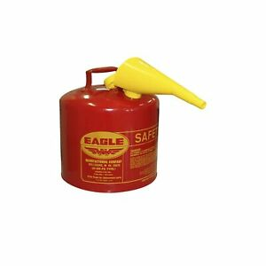Eagle Ui 50 fs Red Galvanized Steel Type I Gasoline Safety Can With Funnel 5 Gal