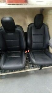 2010 10 11 12 13 14 15 Chevy Camaro Ss Rs Black Leather Front Rear Bucket Seats