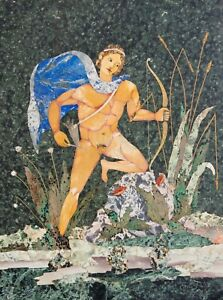 Large Pietra Dura Plaque Of Apollo Signed