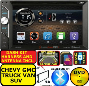 Fits Gm Car Truck Van Suv Cd Dvd Bluetooth Radio Stereo Double Din Dash Kit Usb