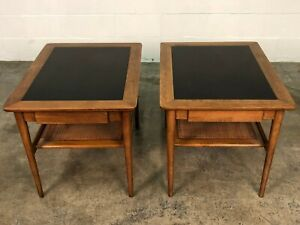 American Of Martinsville Mid Century Modern End Table Nightstand A Pair