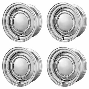 4x American Racing 14x6 Vn31 Smoothie Wheels Chrome Steel 5x4 5 5x4 75 114 6
