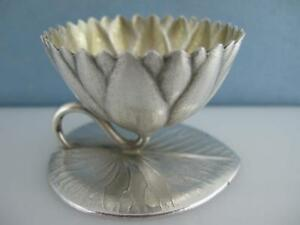 Sterling Whiting 3 D Water Lily Pad Salt Cellar Dish Holder Aesthetic 195 Each