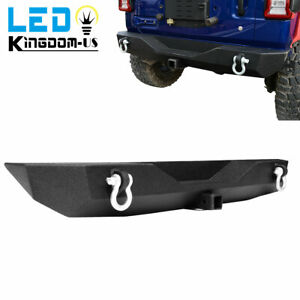 For Jeep Wrangler 07 18 Jk Full Width Front Bumper W Fog Light Hole D ring