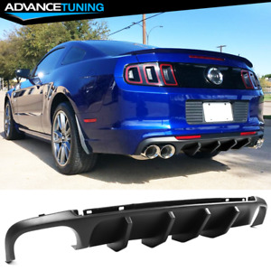 Fits 13 14 Ford Mustang Shelby V2 Style Rear Lower Bumper Lip Diffuser Pp