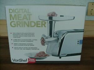 Meat Grinder Electric Machine Maker Butcher Vonshef Digital Sausage Food Counter