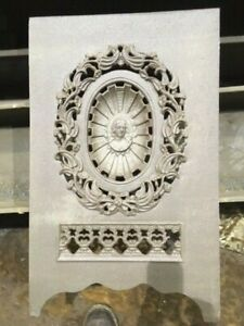 Antique Cast Iron Victorian Fireplace Cover Extremely Rare High Relief
