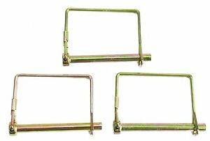3 Pack Lot Long 1 4 Trailer Coupler Safety Snap Locking Pin Square Towing Hitch