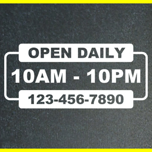 Open Hour Sign Sticker Business Store Shop Signs Decals Stickers