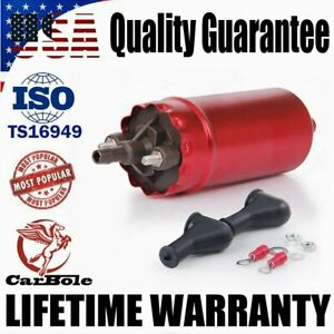 Universal Inline High Pressure External Electric Fuel Pump E10009 0580464070 Red