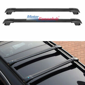 Adjustable Top Roof Rack Luggage Cross Bar W Key For Jeep Cherokee 2014 2017