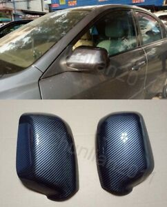 Fiber Side Mirror Cover Trim For 2003 2008 Mazda 2 3 Mazda 6 Abs 2pcs
