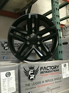 20 2019 Chevy Trail Boss Wheels Rims Tahoe 1500 Silverado Denail Satin Black
