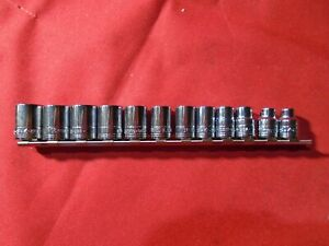 Sk Hand Tools 12 Pc 3 8 Drive Metric Socket Set 12 Point Made In Usa