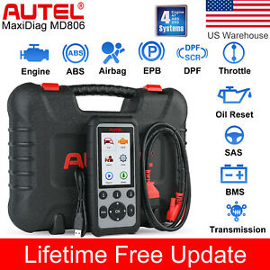 Autel Md806 Md808 Auto Diagnostic Scan Tool Engine Abs Srs Transmission Epb Dpf