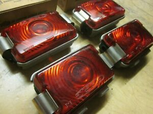 Vintage Truck Trailer Clearance Lights Circa 50 s 60 s Red