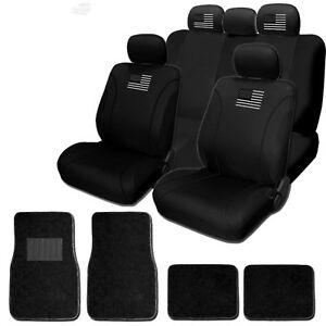 For Ford New American Flag Front Rear Car Truck Suv Seat Covers Mats Set