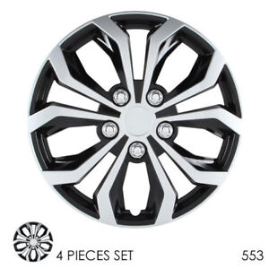 For Honda New 16 Abs Silver Rim Lug Steel Wheel Hubcaps Cover 553