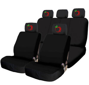 For Chevy Car Truck Suv Seat Covers Set Red Apple Design Front Rear New