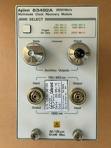 Hp Agilent 83492a Optical Clock Recovery Module