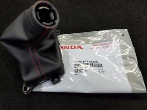 New Genuine Honda Civic Si Red Stitched Thread Shift Boot 2013 2015