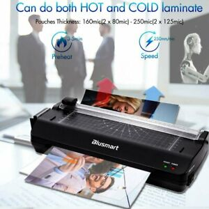 A3 Hot cold 5 in 1 Laminator With Free 25 Pouches paper Cutter corner Rounder