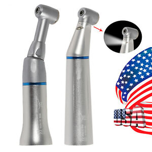 Nsk Style Dental Led Light Low Speed Handpiece Contra Angle Push Button 2 35mm
