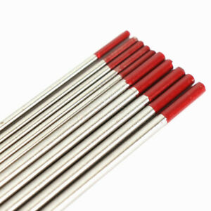 10 pk Tig Welding Tungsten Electrode 2 Thoriated red 1 8 x7 For Tig Welding
