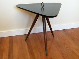 Mid Century Tripod Legs Guitar Pick Table