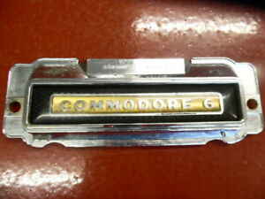 1949 1950 1951 Hudson Commodore 6 Glove Box Emblem Gold Black P N 220568