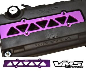 Vms Racing Valve Cover Spark Plug Wire Insert Purple 99 00 Honda Civic B16 Vtec