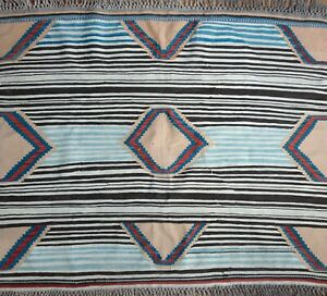 Medium Vintage Turkish Rug Striped Kilim Carpet Chief S Blanket Lookalike