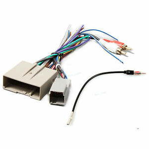 Car Radio Wiring Harness W Rca Stereo Antenna Adapter For Ford Lincoln Mercury
