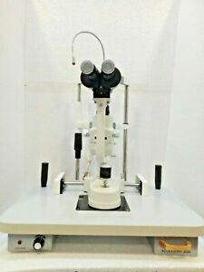 2 Step Slit Lamp Zeiss Type With Accessories Ophthalmology Free Shipping Intern