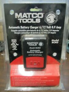 Matco 6 12v Automatic Battery Charger Maintainer Bcm3 New