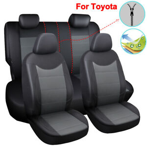 Pu Leather Car Seat Cover Interior Accessories Fit For Toyota Rav4 4runner Yaris