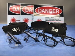 Lot Of 5 Laser Safety Glasses Goggles O d Od 7 190 380 5 10600 W 3 Signs